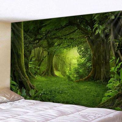 Window Scenery Print Tapestry New Room Wall Hanging Tapestry Bedspread Decor