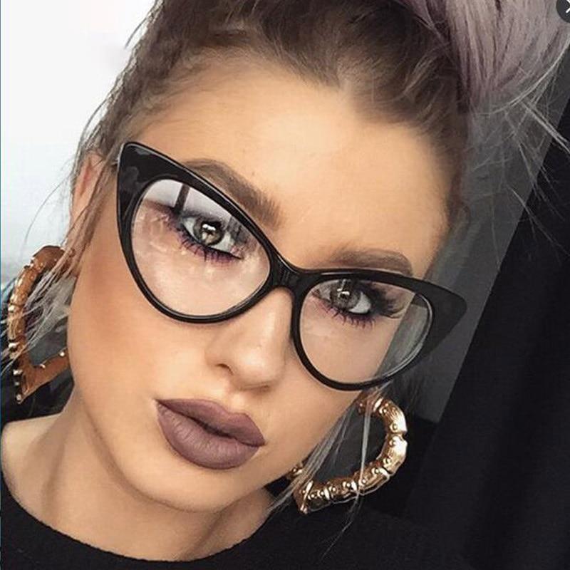 Модные солнцезащитные очки в стиле кошачий глаз в стиле ретро, пластиковые солнцезащитные очки с большой оправой, сексуальные женские очки, женские очки – купить по низким ценам в интернет-магазине Joom