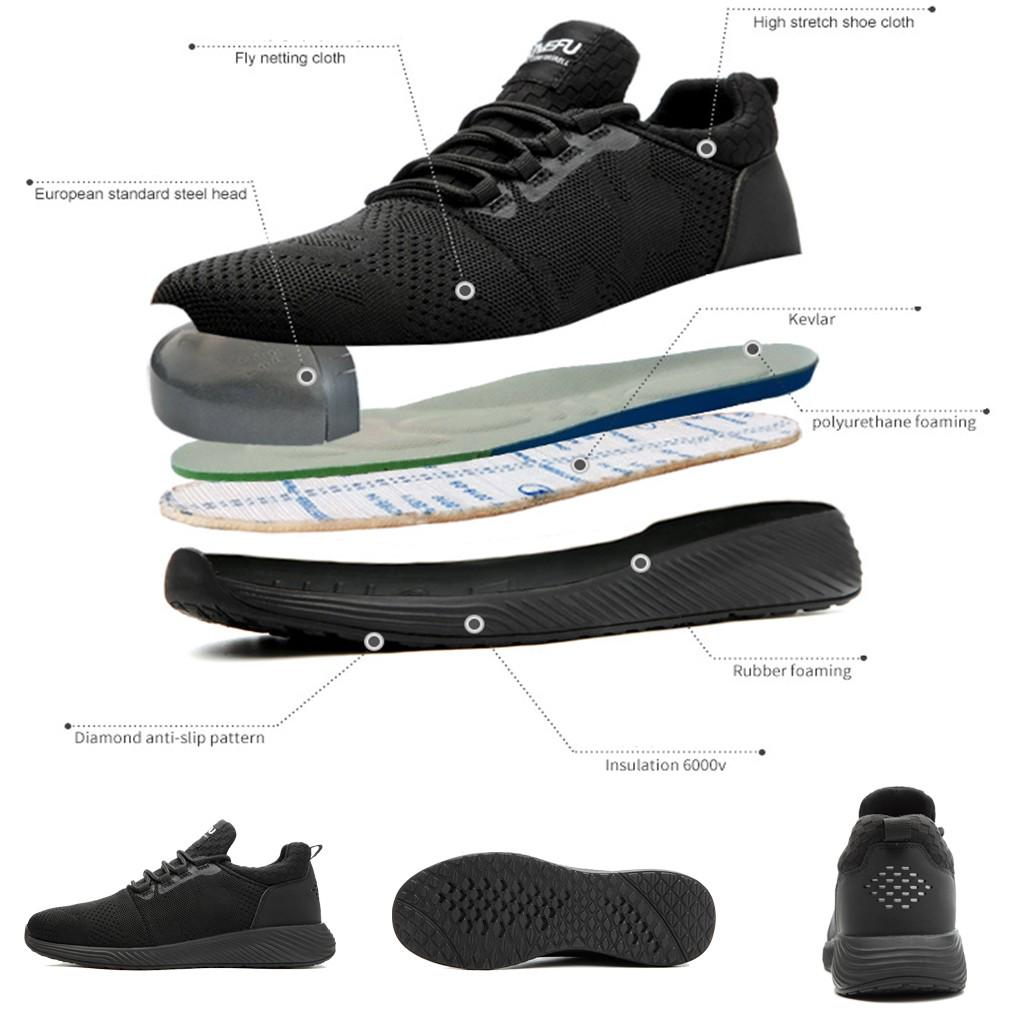 FREE Mens Steel Toe Safety Work Shoes