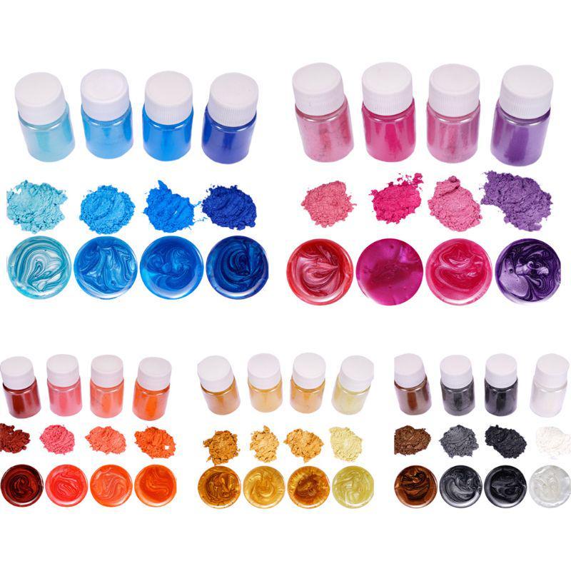 4 PCs/set Resin Jewelry DIY Изготовление Ремесло Светящийся порошок Пигмент Набор Кристалл Эпокси Материал