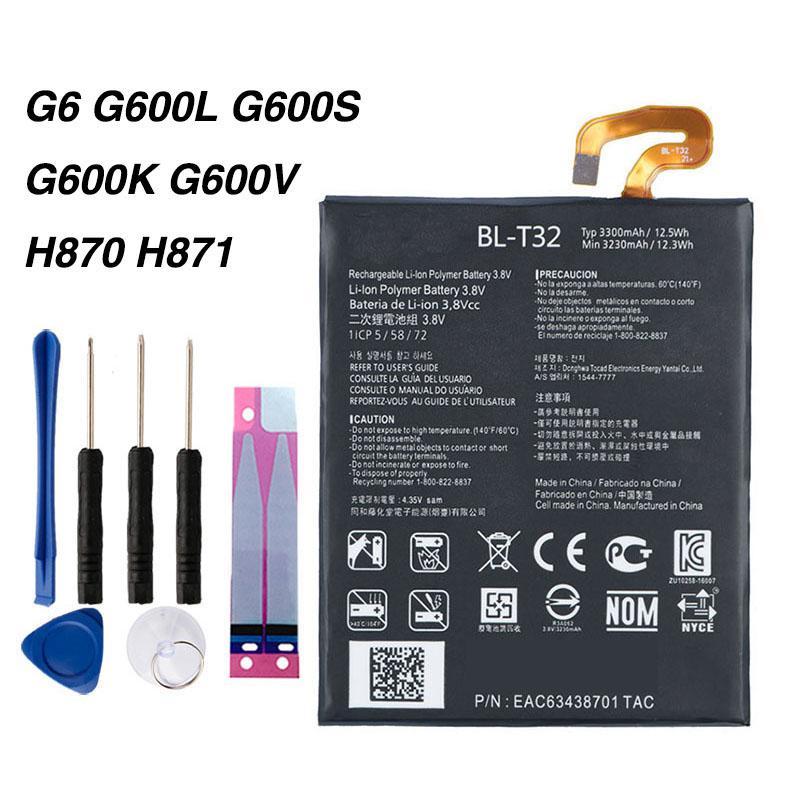 Оригинальная батарея BL-T32 для LG G6 G600L G600V H870 H873 LS993 US997 VS988 3300mAh купить недорого — выгодные цены, бесплатная доставка, реальные отзывы с фото — Joom