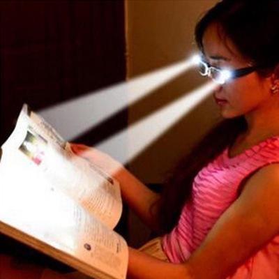 Unisex Rimmed Reading Eye Glasses Eyeglasses Spectacal with LED Light Diopter Magnifier