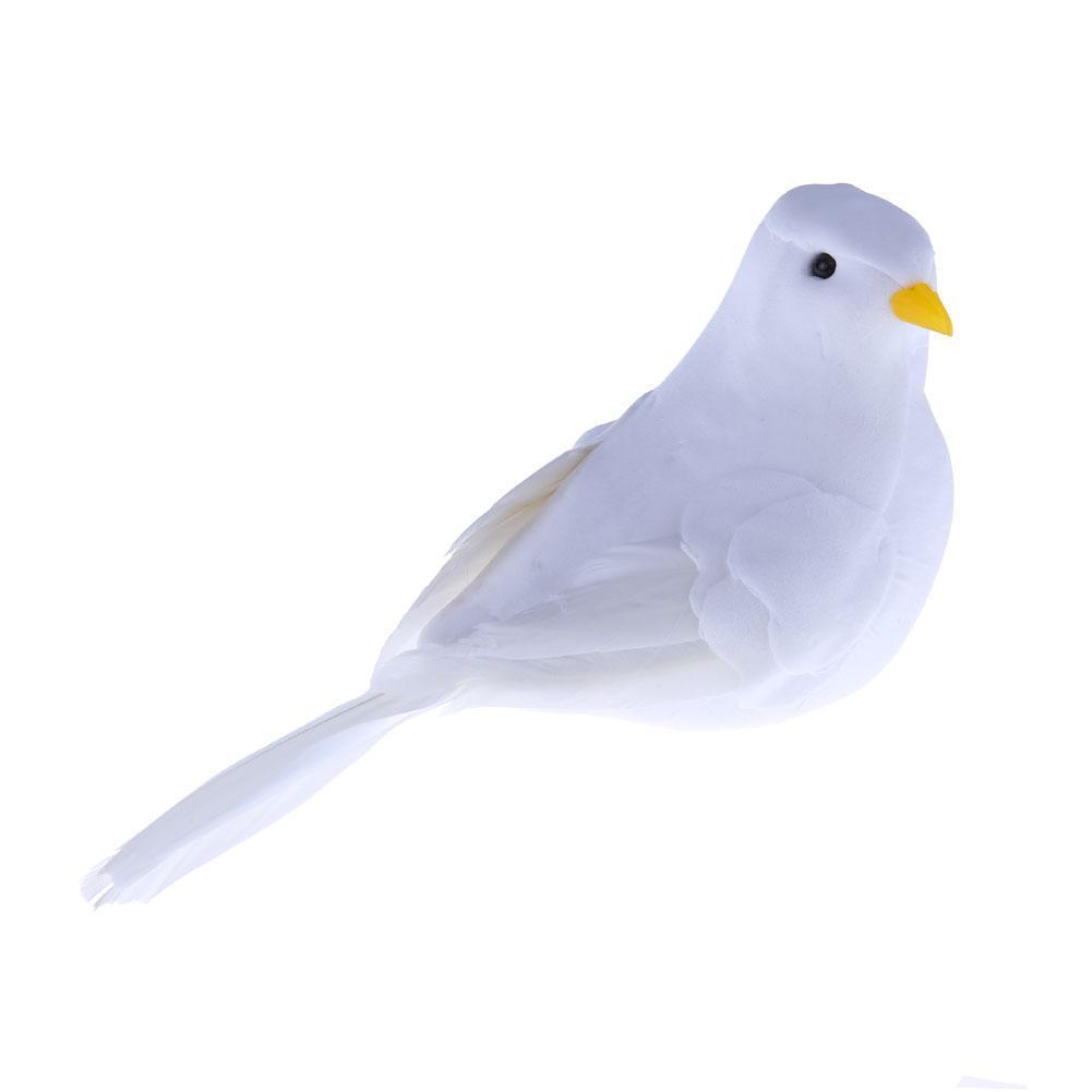 Artificial Simulation Peace Dove Foam Feather Birds Wedding Crafts OrnamentSJUS