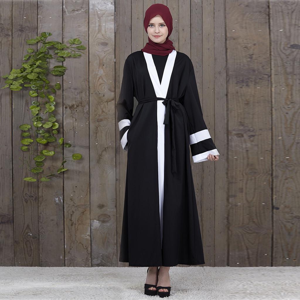 Muslim Abaya Dubai Diamond Women Long Open Front Cardigan Embroidery Islamic Dress Full Length Kaftan Ladies Vintage Maxi Dress Casual Jacket