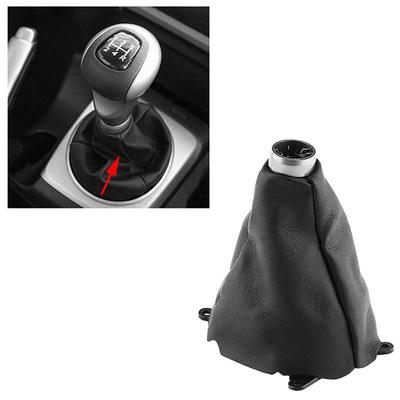 Universal Auto Manual Car Gear Shift Knob Boot Dust Cover Carbon Fiber Style PU Leather Gear Shifter Boot Durable Gear Stick Dustproof Gaiter Protection