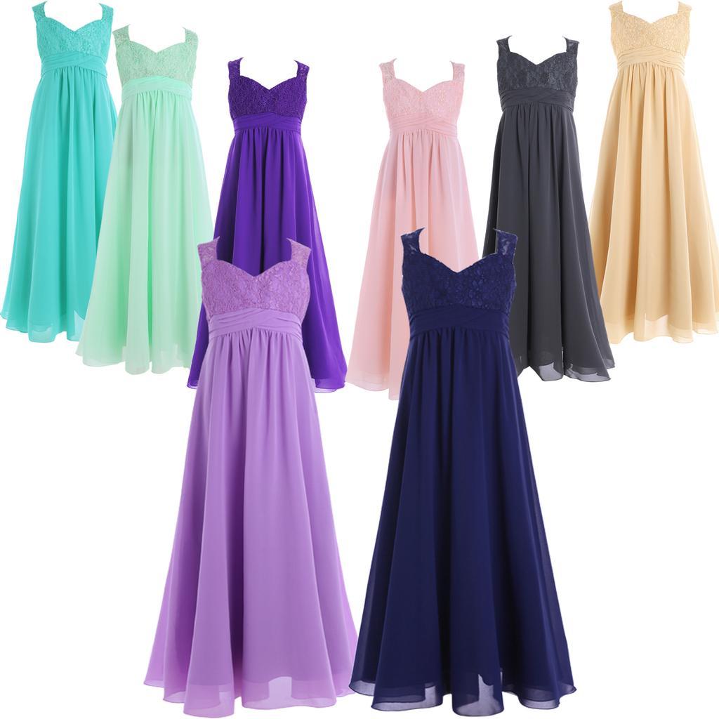 Flower Girl Princess Pageant Wedding Party Formal Birthday Kids Dress Size4-14