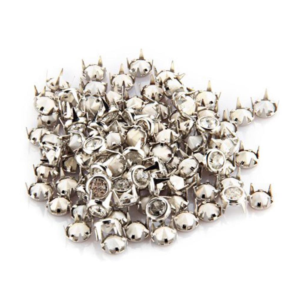 100 Sätze Weiß Dome Perle Nieten Nieten Dekorative Knöpfe für Kleidung