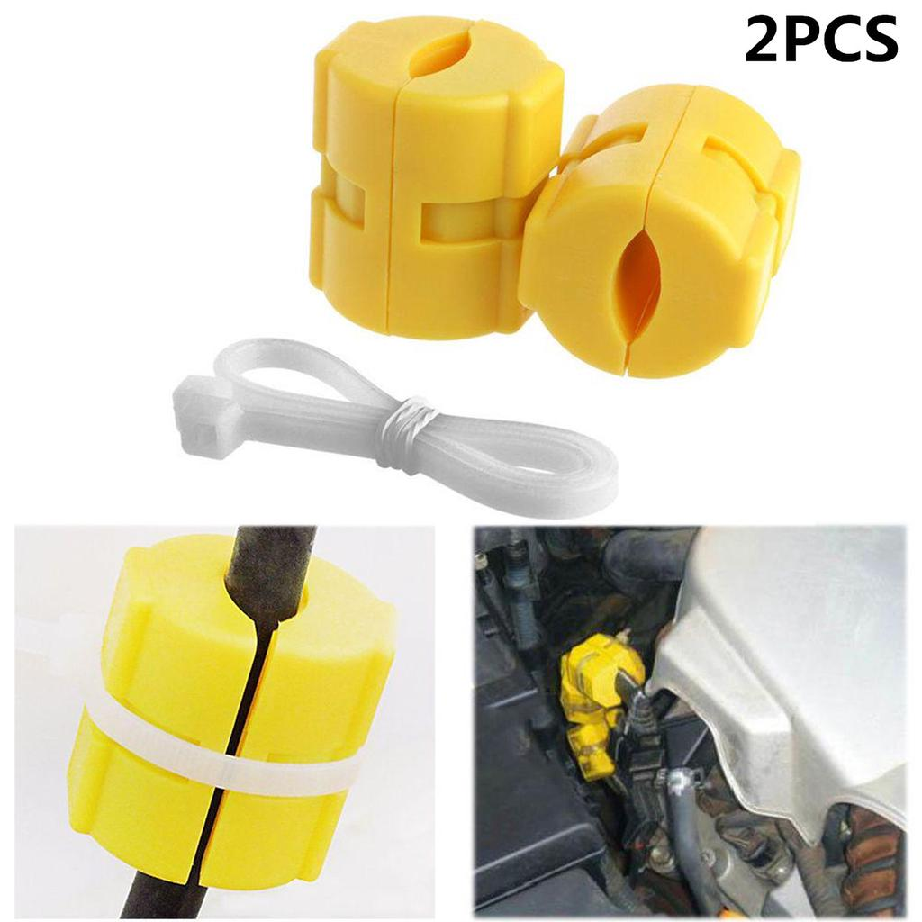 2Pcs Universal Magnetic Gas Fuel Saver for Auto Vehicle Reduce Emission Tool New