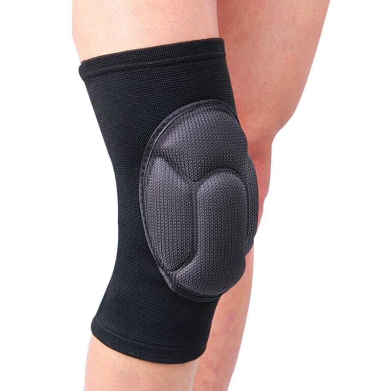 1pc Soft Elastic Breathable Support Brace Knee Protector Pad Sports Bandage Collision Avoidance//Prevent Muscle Strain Blue