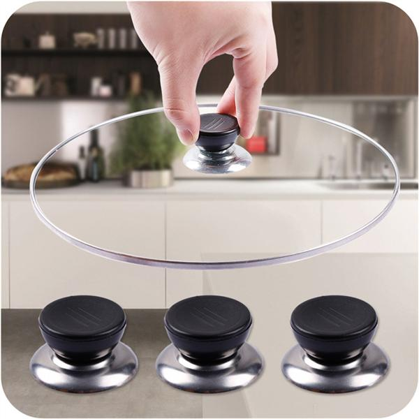 6 Pack Pot Lid Knobs,YuCool Universal Kitchen Cookware Lid Replacement Knobs Casserole Kettle Cover Glass Saucepan Lid Pot Holding Handles-Black