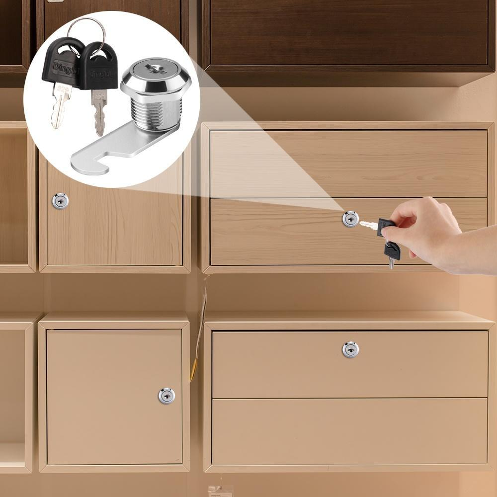 llaves Aleaci/ón de aluminio cerrojo de leva para cajones de armarios armario Locker 16 mm
