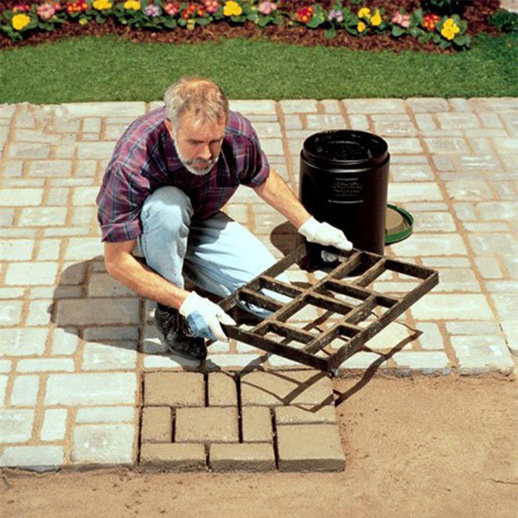 Hollow Diamond Brick Mold Garden Concrete Fence Paving Tool Antique Stone Mould