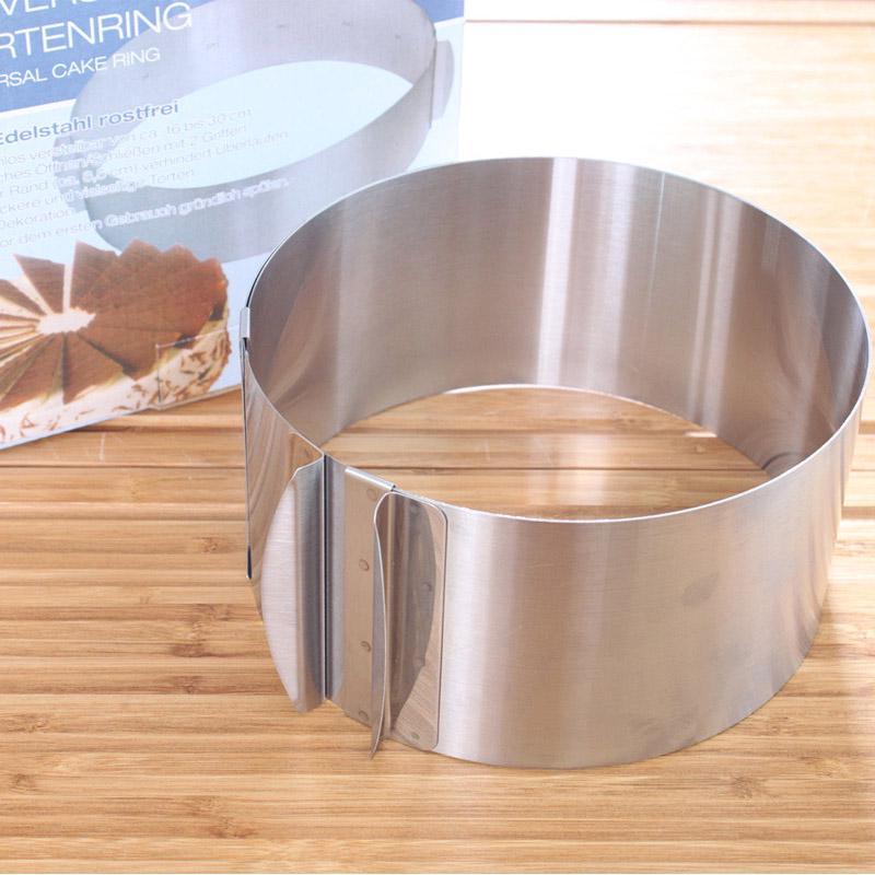 Регулируемый торт плесень круглый торт формы 6-12 inch Bakeware Инструменты Мусс Круг выдвижной фото