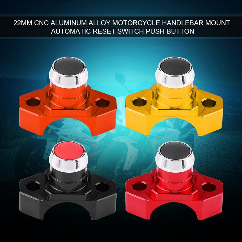 7//8 CNC Aluminum Alloy Motorcycle Switches Handlebar Mount Switch Headlight Fog Light ON OFF Start Kill Horn Lock Reset Button