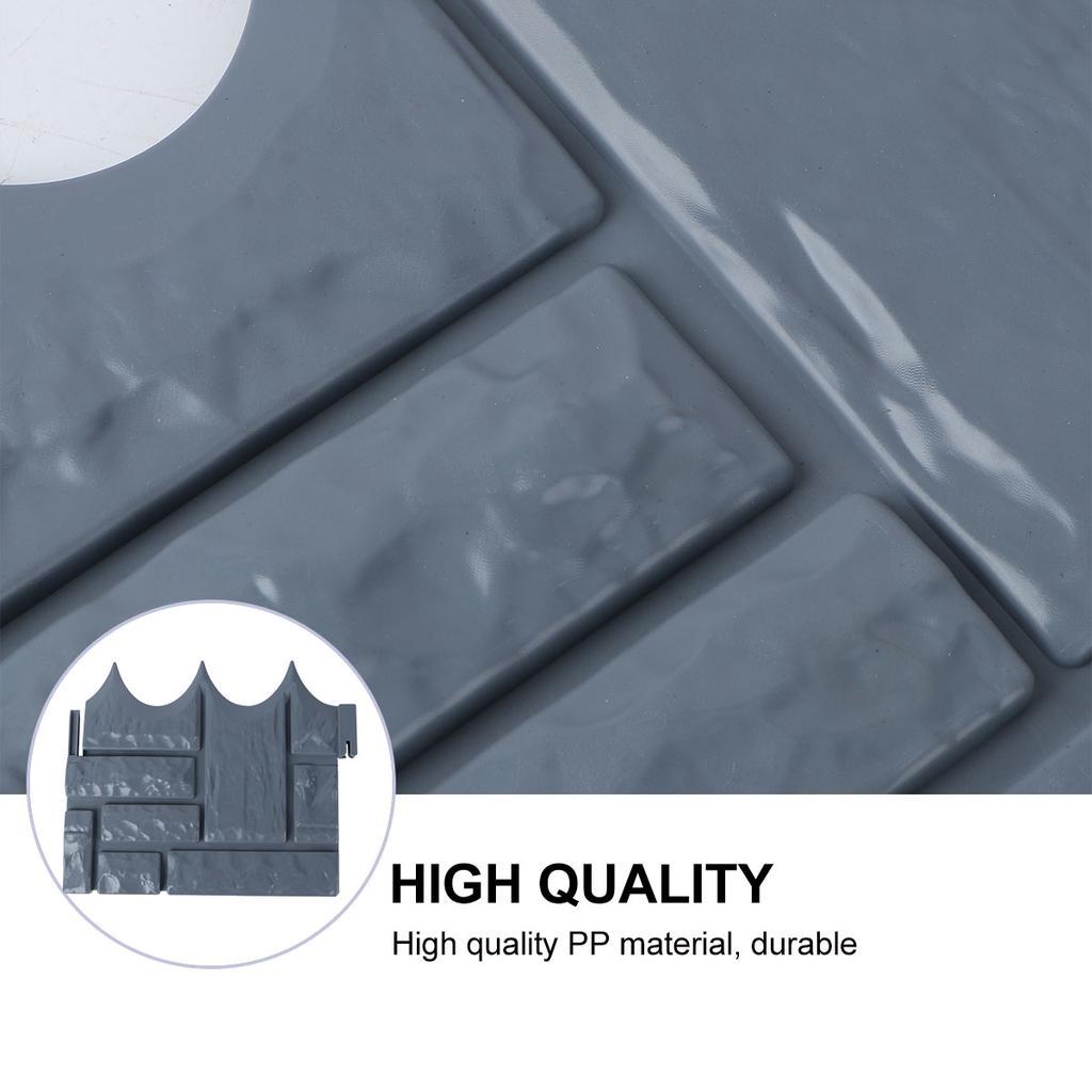 Details about  /10pcs Foldable Splice Fence Plastic Fence Delicate Plant Border Simple Edge Pali