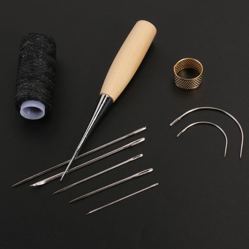 Kit de Poin/çon Multifonctionnel pour Outil de Couture /à Coudre /à la Main 14pcs Kit dArtisanat en Cuir