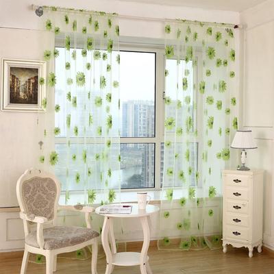 Sonnenblume Voile Vorhang Fenster Balkon Blume Tüll Vorhang ...