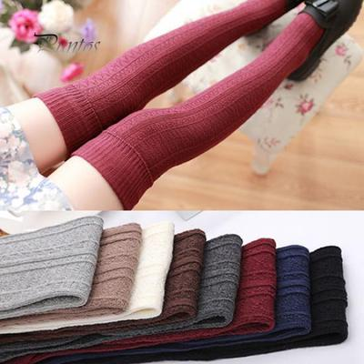66a646fcd Fashion Autumn Winter Thigh High Women Over The Knee Socks Slim Leg  Stockings