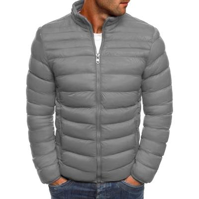 d62174239 Men's Autumn and Winter Fashion Casual Slim Fit Puffer Cotton Coat