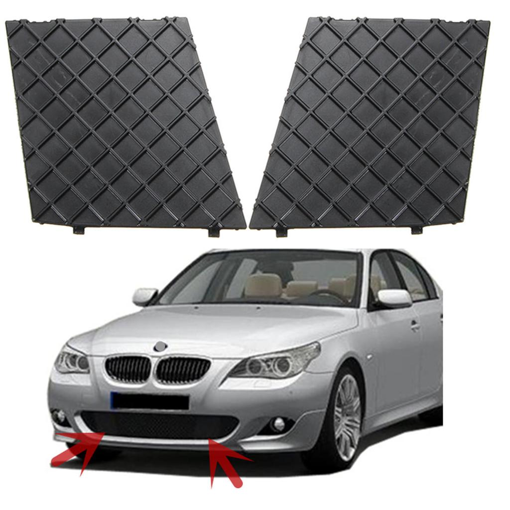FOR BMW E60 M SPORT FRONT BUMPER LOWER SIDE MESH GRILL TRIM PAIR SET LEFT RIGHT