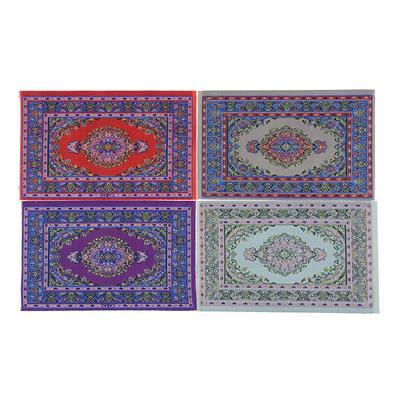 1//12 Scale Woven Rug Floor Carpet Dolls House Furniture Miniatures Beige