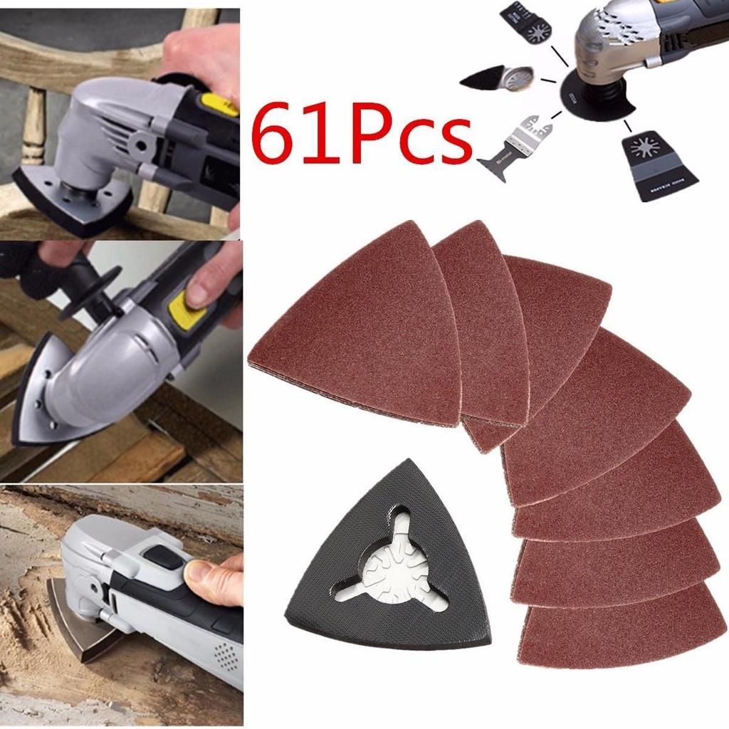 61Pcs Sanding Pad Sand Paper for Bosch Fein Milwaukee Oscillating Multi Tools