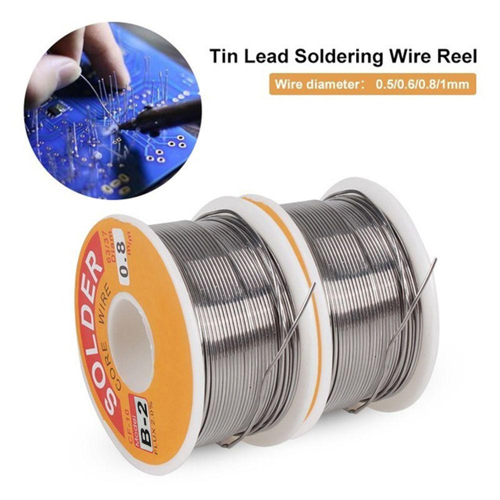 1 Roll Welding Iron Wire Reel 0.7mm 63//37 Tin Lead Line Rosin Core Solder Sol…