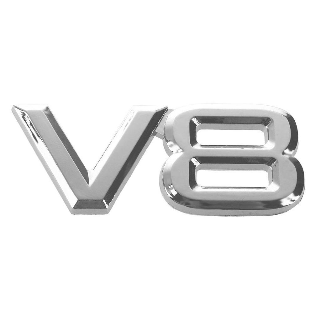 Métal 3D V8 Noir Badge Voiture Corps Emblème Autocollant Pour Range Rover Land Rover