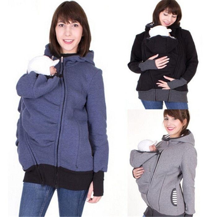 f7211d8cc Moda bebé portador canguro maternidad ropa de abrigo con capucha capa de la chaqueta  para las mujeres embarazadas - comprar a precios bajos en la tienda en ...