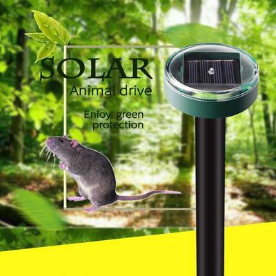 Eco-Friendly Waterproof Solar Powered Ultrasonic Mouse Snake Pest Repeller