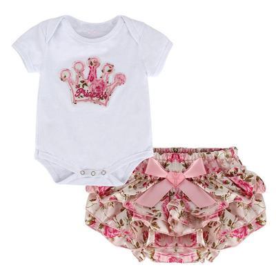 Pink 2pcs Set Baby Girl Pink Long Sleeve Romper Jumpsuit Hat 18M