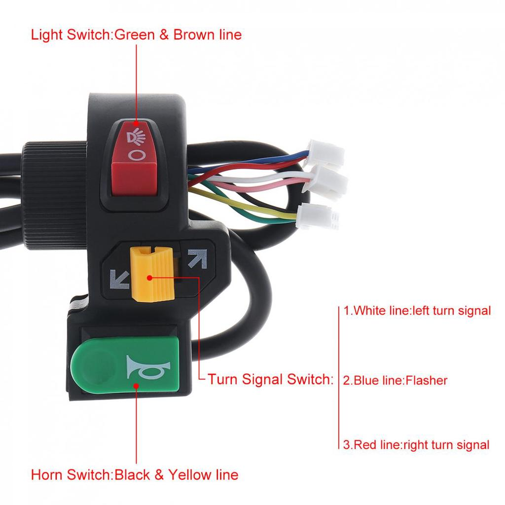 40in40 Motorcycle Pit Bike ATV Horn Turn Signal Light Switch