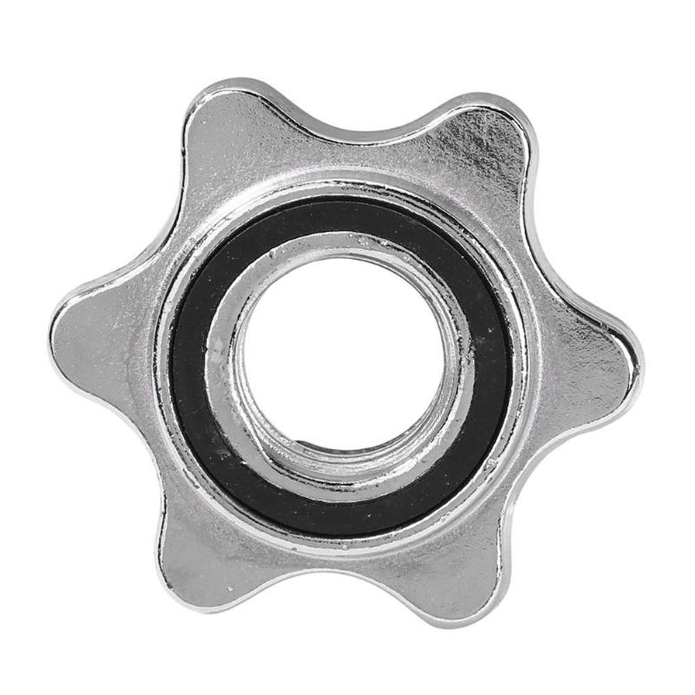 Solid Steel Safety Protection Anti-slip Dumbell Accessory Hexagon Nut Dumbell Nut Collar Screw Barbell Bar Weight Lifting Accessories