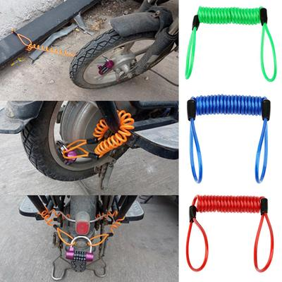 1.2m cable bicycle lock rope anti-theft Motorbike Disc Lock Security Reminder ZH