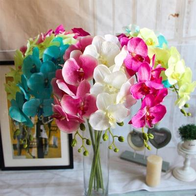 Artificial Butterfly Orchid Bouquet Silk Flowers Phalaenopsis Wedding Home Decor