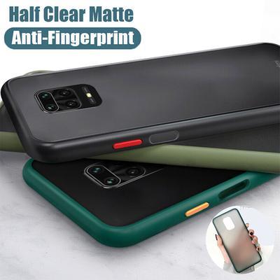 Soft TPU Bumper Phone Cases For Xiaomi Redmi Note 9 Pro 8T 9A 9C 9 Mi 10T Pro Matte Translucent Shockproof Back Cover