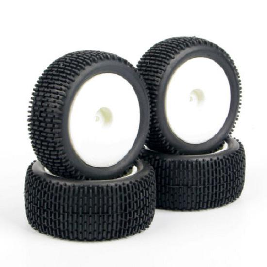 4X 90mm Rubber Front/&Rear Tires Wheel For HSP HPI RC Off-Road 1:10 Buggy Car