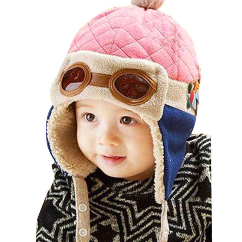 9890655b0 Hot Toddlers Cool Baby Boy Girl Infant Winter Pilot Warm Cap Hat ...