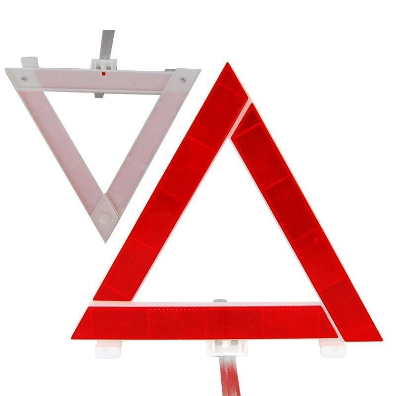 Foldable Car Auto Safety Emergency Reflective Warning Triangle 30*30*30CM Red