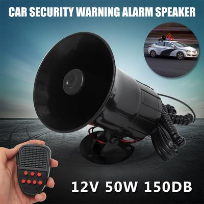 12V 150DB Car Security Warning Alarm Speaker Horn 7-Sound Tone Super Loud