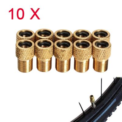 10pcs Pump Bicycle Convert Presta to Schrader Bike Valve Adaptor Tube Pump KIUS