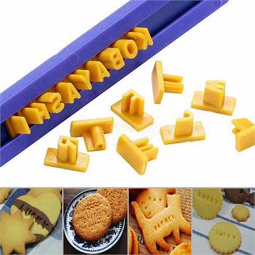 Alphabet Letter Number Cookie Biscuit Stamp Cutter Set Tools Mold Embosser