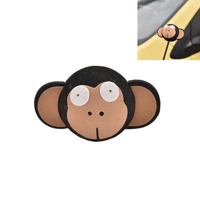 1 Pcs Cute Big Eyes Monkey Antenna Topper Eva Decorative Topper Balls for  Car