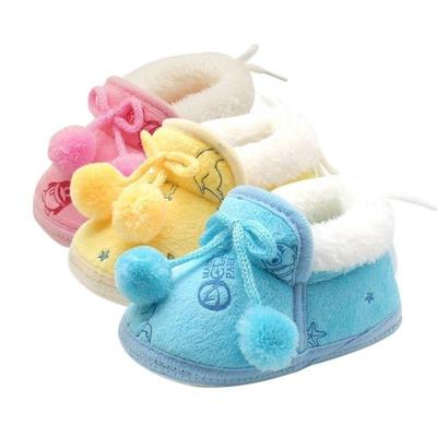 Winter Warm First Walkers Soft Soled Infant Toddler Kids Girl Cack Shoes