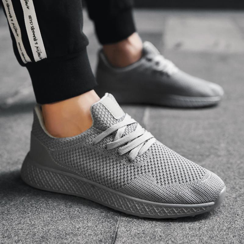 Compre Marca De Alta Qualidade Sola Grossa Homens Tênis Preto Sapatilhas Não Deslizamento Masculino Esporte Sapatos Para Homens Andando Ao Ar Livre #