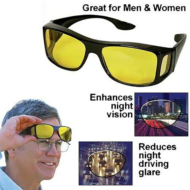 HD Night Vision Men//Women Driving Sunglasses Over Wrap Around Anti-UV Glasses