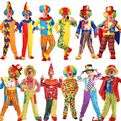Hat Kids New Child Clown Costume Boys Girls Circus Carnival Fancy Dress Outfit