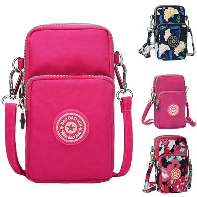 Sports Mini Square Bag Oxford Cloth Messenger Bag Cellphone Pouch Crossbody Bag