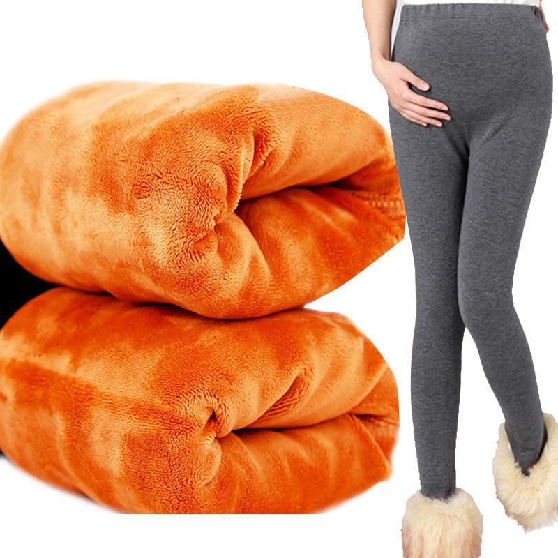 7e69a35d4 Las mujeres embarazadas con Leggings de terciopelo engrosamiento pantalones  abdominales cálido invierno maternidad pantalones pantalones - comprar a  precios ...