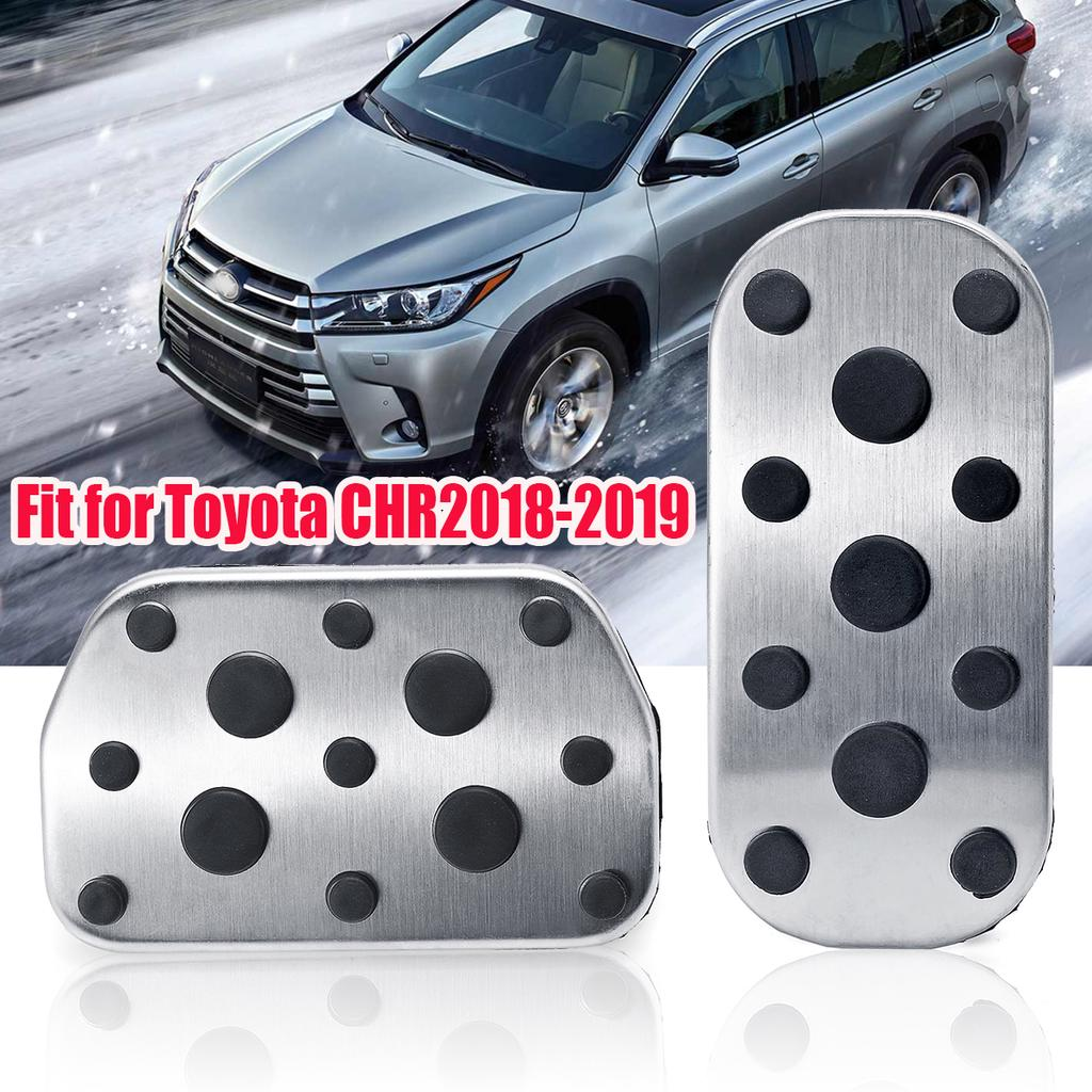 Sliver Car Gas Brake Pedal Covers Fit for 2019 2020 Rav4 Anti-slip Foot Pedals Rest Plate Kits Aluminum Alloy Clutch Brake Pad Cover 3pcs